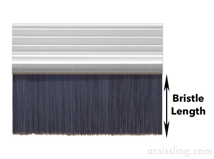 Exitex Brush Draught Strips 2134mm Lengths