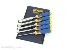 Irwin Marples MS500 5-Piece Chisel Set in a Fabric Wallet