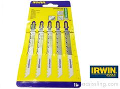 IRWIN HCS Jigsaw Blades Ref T101D Wood Cutting 6TPI 100mm Side Ground