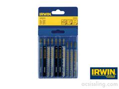 IRWIN Jigsaw Blades ASSORTED Pack of 10 Wood Cutting & Metal Cutting (Various)