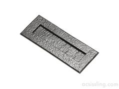 Kirkpatrick 1083 Series Plain Letter Plates Black Antique