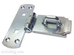 146 VerticaL Hasp & Staple Electro Galvanised  152mm 6 Ins