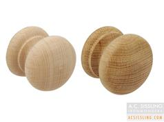 Hafele 195.77.*** Series Wooden Cabinet Knobs 34mm - 44mm - 49mm Unfinished