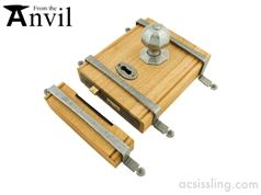 From The Anvil 33004 Oak Box Lock with Octagonal Knobs Pewter