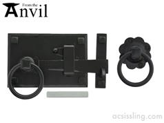 From The Anvil Powder Coated Cottage Latch BLK  33294  33295