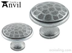 From The Anvil Beaten Cupboard Knob PEWTER 33625  33626