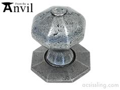 From The Anvil 33643 Octagonal Mortice/Rim Knob Pewter