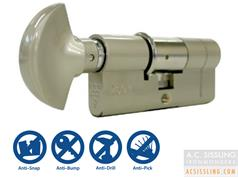 British Standard 3 Star Euro Security Cylinder & Turn