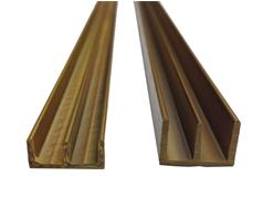 Plain Double Plastic Sliding Channels for 6mm Glass or Board
