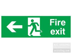 Fire Exit / Running Man / Arrow Left Signs