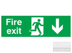 Fire Exit / Running Man/ Arrow Down Signs