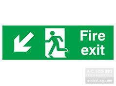 Fire Exit / Running Man/ Arrow Down Left Signs