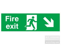 Fire Exit / Running Man/ Arrow Down Right Signs