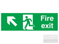 Fire Exit / Running Man/ Arrow Up Left Signs