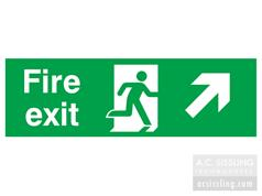 Fire Exit / Running Man/ Arrow Up Right Signs