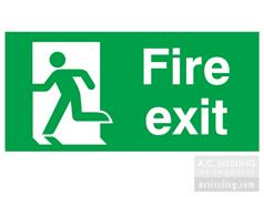 Fire Exit / Running Man Left Signs