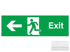 Exit / Running Man/ Arrow Left Signs