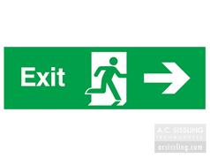 Exit / Running Man/ Arrow Right Signs