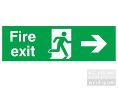 Fire Exit / Running Man/ Arrow Right Signs
