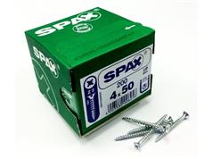 SPAX SCREWS Countersunk Bright Zinc Plated POZI