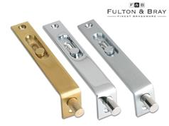 Fulton & Bray FB01 Series Sunk Slide Action Flush Bolts