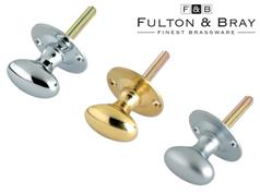 Fulton & Bray FB40 Series Oval Thumb Turns for Rack Bolts