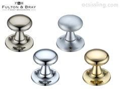 Fulton & Bray FB501 Mushroom Mortice Knobs on 60mm Rose (Face Fix)