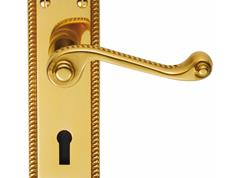 Georgian Lever Suite Polished Brass