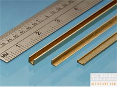 Albion Alloys CC Metric Brass C-Channel 305mm Lengths