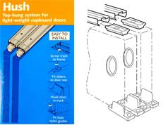 Coburn HUSH Cupboard Sliding Door Kits 9kg Top Hung System