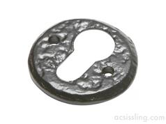 Kirkpatrick 1401 Round EURO Profile Escutcheon 51mm Black Antique