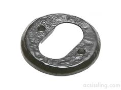 Kirkpatrick 1402 Round OVAL Profile Escutcheon 51mm Black Antique
