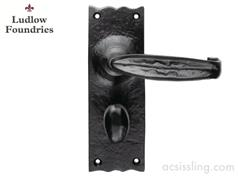 Ludlow Foundries Traditional V Lever Handles Black Antique