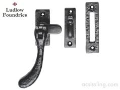 Ludlow Foundries Bulb End Casement Fastener Black Antique