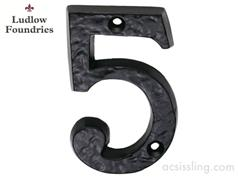 Ludlow Foundries Door Numerals Black Antique 0 - 9