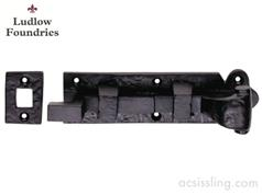 Ludlow Foundries Cranked Door Bolt Black Antique
