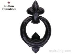 Ludlow Foundries LF5590 Ring Door Knocker Black Antique