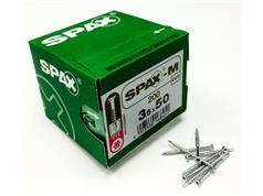 SPAX-M MDF Countersunk Pozi Screws Bright Zinc Plated