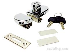 NS-GLI Glass Cabinet Door Lock (Clamp-on Type)