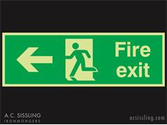 Fire Exit / Running Man / Arrow Left Signs PHOTO-LUMINESCENT