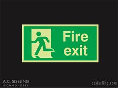 Fire Exit / Running Man / Left PHOTO-LUMINESCENT