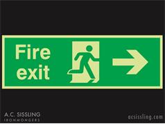 Fire Exit / Running Man / Arrow Right Signs PHOTO-LUMINESCENT