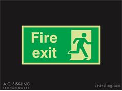 Fire Exit / Running Man / Right PHOTO-LUMINESCENT