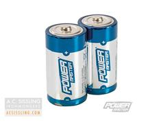 PowerMaster C-Size LR14 Super Alkaline Batteries 2 Pack
