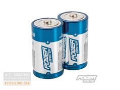 PowerMaster D-Size LR14 Super Alkaline Batteries 2 Pack