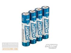 PowerMaster AAA LR03 Super Alkaline Batteries 4 Pack