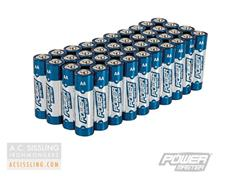 PowerMaster AA LR6 Super Alkaline 1.5v Batteries 40-Pack