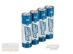 PowerMaster AA LR6 Super Alkaline Batteries 4 Pack