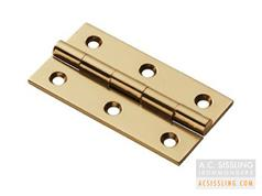 TDF100 Series Heavy Solid Drawn Brass Cabinet Hinges - 38, 50, 64 & 76mm