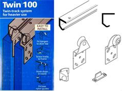 Coburn TWIN 100 Heavy Wardrobe Track Kits 45kg Top Hung System